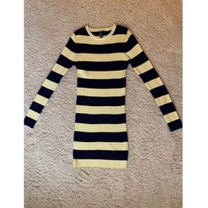 Forever 21 Striped Ribbed Sweater Dress
